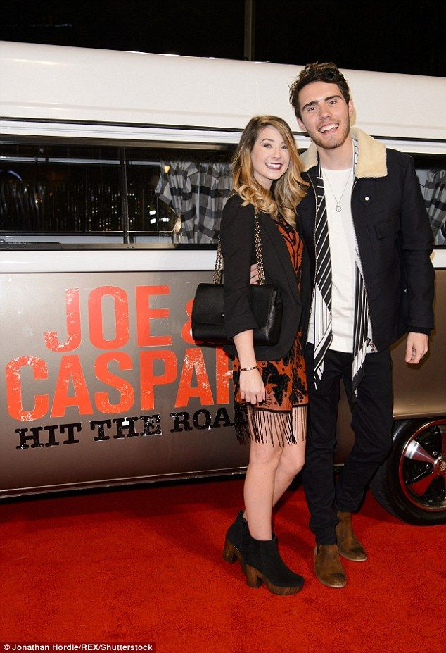 Zoella, pictured with her live-in boyfriend Alfie Deyes - also a YouTuber - also opened up...