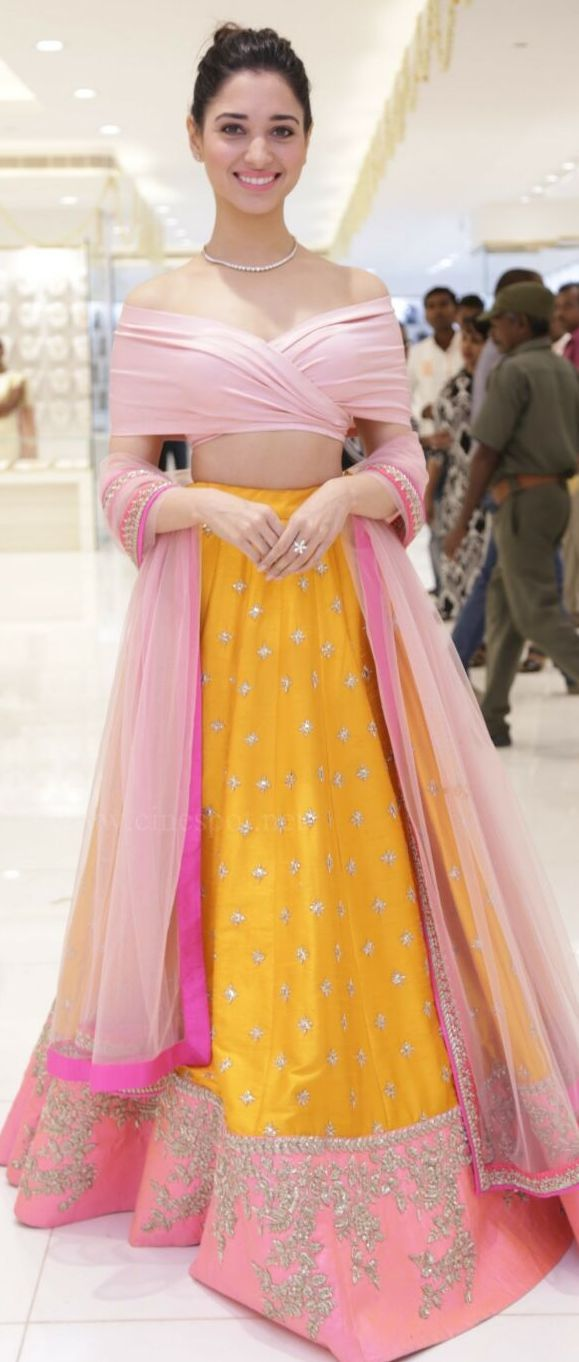 Pinterest: @Littlehub || Dreamy Lehenga's❤•。*゚|| Tamannah in Anushree Reddy…