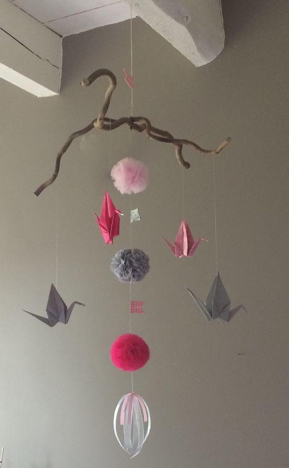 Grue mobile de papier sur pinterest mobiles d origami origami et - Les 25 Meilleures Id 233 Es Concernant Grues En Origami Sur