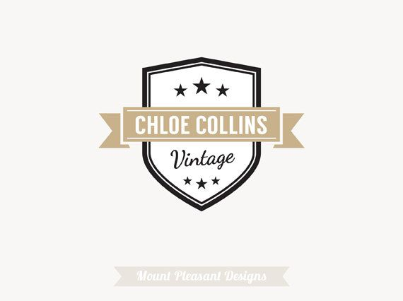 Logo Design Premade Customizable For By MountPleasantDesigns