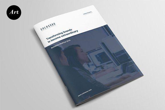 Corporate Profile Brochure by Artalic on @creativemarket