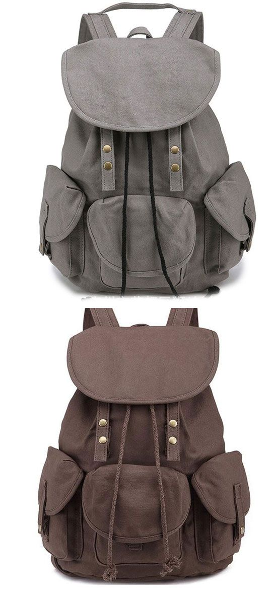 Unique High School Bag Leisure Student Travel Canvas Backpack so cute ! #backpack #travel #bag #leisure #rucksack