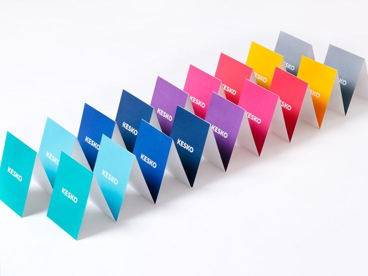 Let there be colour: Kesko is a leading provider of trading sector services. Company's updated identity is colorful, simplified and positively happy. The elements are simple and time-resistant. As part of the identity update the corporate logo is modernized delicately. The colourful identity reflects corporation's entrepreneurial culture and it's versatile brands and services.