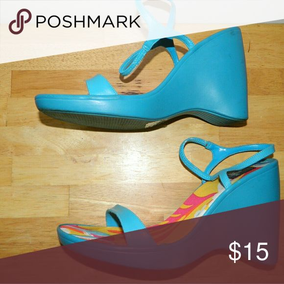 Dollhouse Turquoise Wedge Heel Slip in Size 10 Dollhouse Turquoise Wedge Heel Slip in Size 10 Dollhouse Shoes Wedges