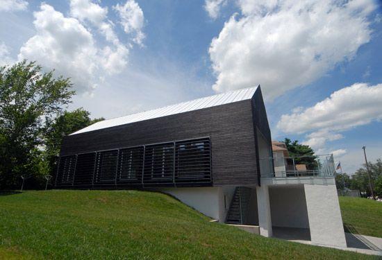 Prescott Passive House by Studio 804 at the University of Kansas. 1,700 SF student-built prototype house.