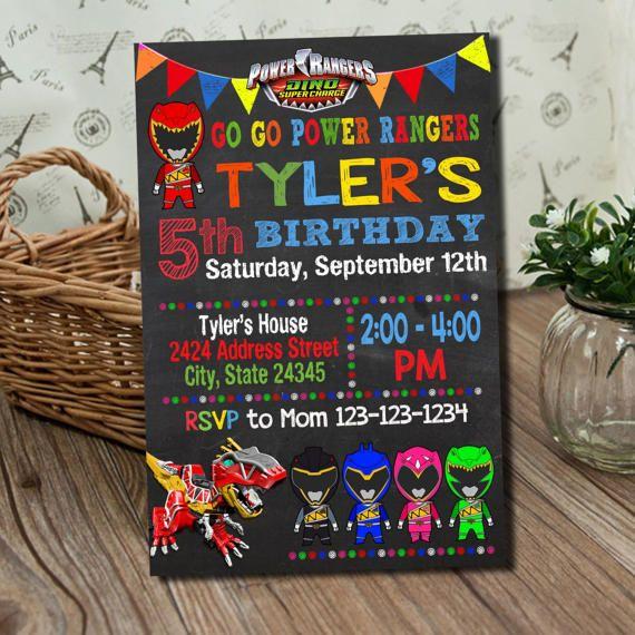 Power Ranger Invitation / Power Ranger Birthday Invitation / Power Ranger / Power Rangers / Power Rangers Birthday / Power Ranger invites