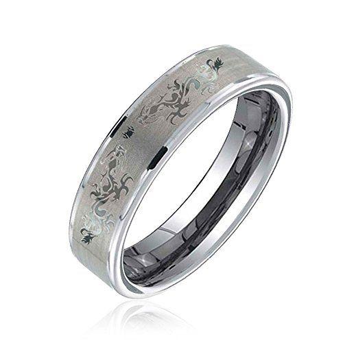 Bling Jewelry Keltischer Drache Wolfram Ehering 6mm - http://schmuckhaus.online/bling-jewelry/bling-jewelry-keltischer-drache-wolfram-ehering
