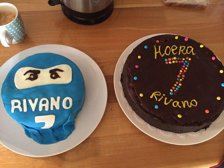 Ninjago taart en choco choco taart voor Vano zijn 7de verjaardag!