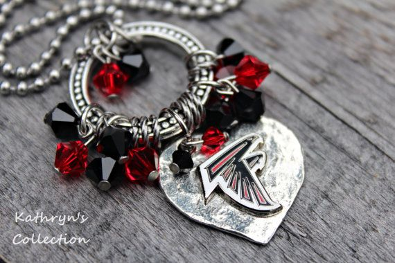 Atlanta Falcons Necklace, Atlanta Falcons Jewelry