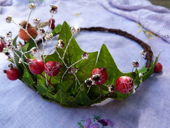 woodland crown~  fit for a fairy princess!                                                                                                                                                                                 More