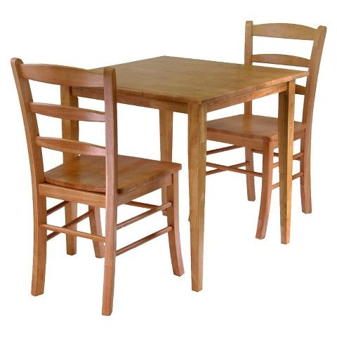 Winsome 3 Piece Groveland Dining Table with Chairs