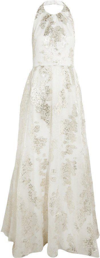 Pin for Later: Les Meilleures Robes de Mariée du Web  Lela Rose Robe longue du soir en fil coupé métallisé (4,563€)