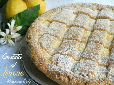 Crostata al Limone cosa c'è di più buono di una pasta frolla che ti si scioglie in bocca ed una crema al limone deliziosa?