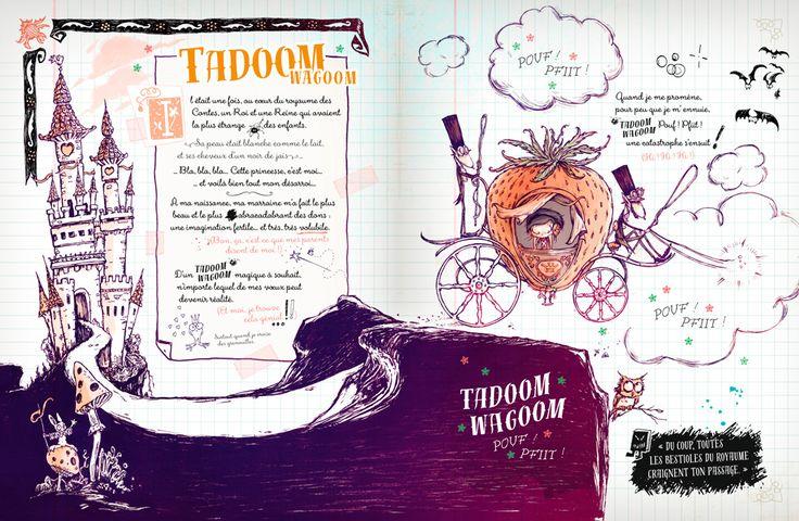 SPOOKY & les Contes de Travers Tome 1 PENSION POUR MONSTRES © Art / Design / Story : Carine-m + Élian Éditions Glénat 2015