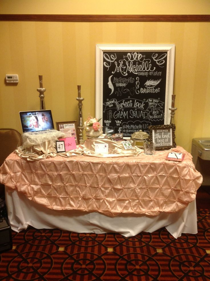 bridal booth for momichelle makeup artistry