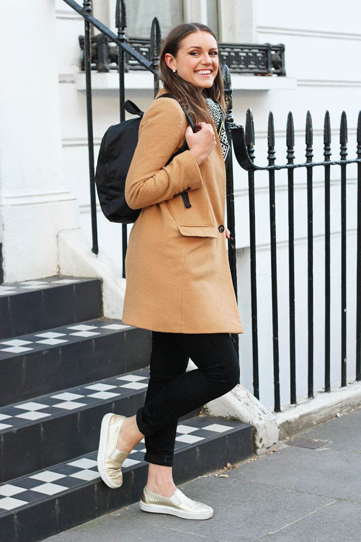 How To Wear A Backpack | Lulu Guiness Backpack | Camel Coat Outfit | The Elgin Avenue Blog