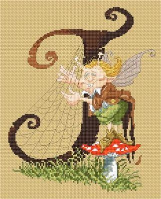 Letter J - Harpist Gnome by Pascal Moguerou