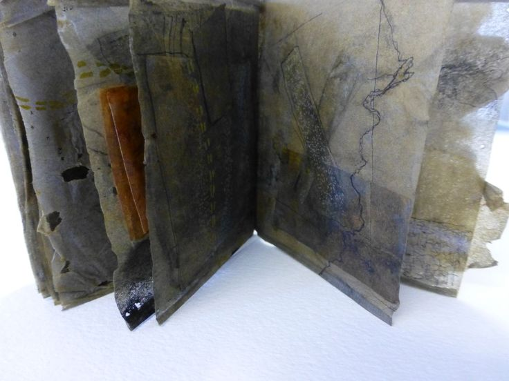 tracemarks: tea bags - tea bag book by Susan Bowers , part of a body of works called A Sense of Place