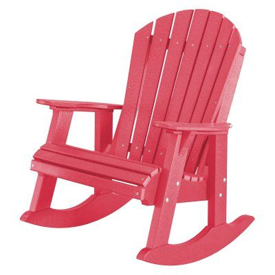 Outdoor Little Cottage Heritage High Fan Back Patio Rocker Chair - LCC-115-PINK