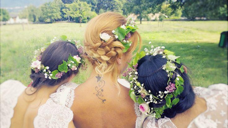 #bride #mariée #bohème #couronnedefleurs #coiffuremariée #hairbride #tresses