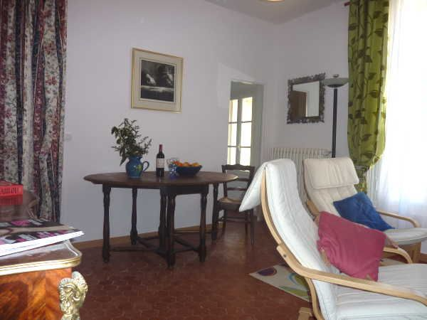Living Room in our Rose suite at Villa Roquette in the South of France