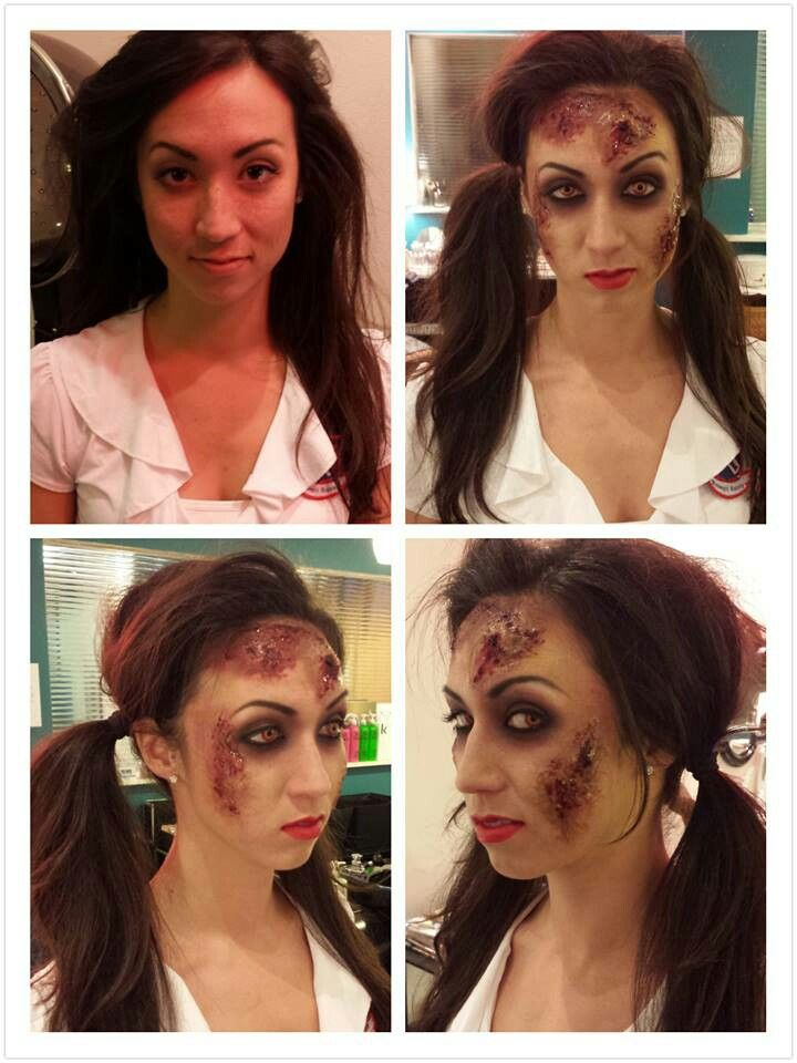 Halloween Makeup: Kouralea Nicole Makeup artist - zombie school girl.