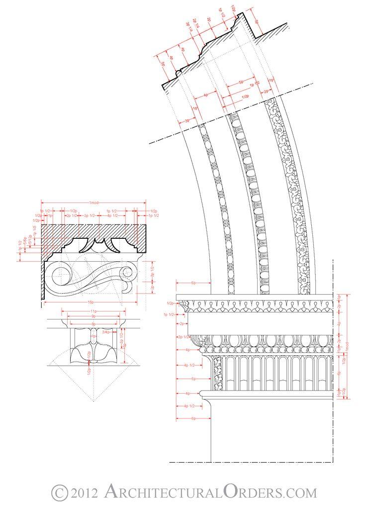 Corinthian Order: modillion and arch impost details