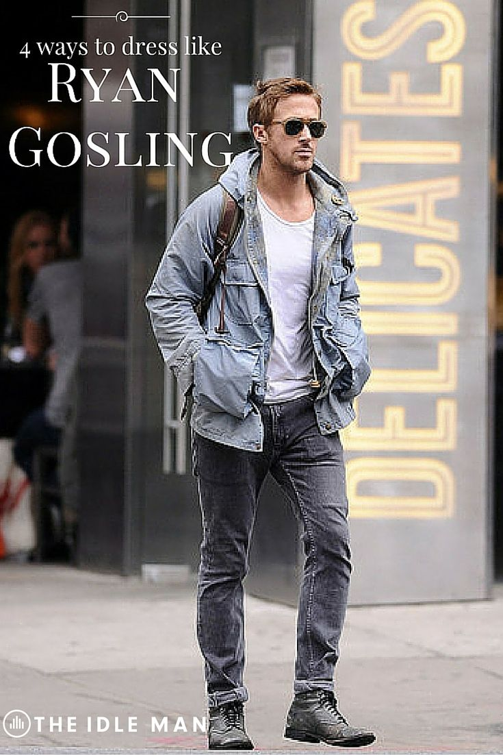 Mostly known for his good looks, Ryan Gosling also has a huge fan base in the style stakes too. As well as being widely recognised as one of the best actors around, Ryan Gosling is famous for something else – his looks. A heartthrob to most women, Ryan is also an icon to many men due to his rugged, masculine styling. Make like a Hollywood star, and get his rugged effortless look with our easy how to guide that'll show you how to get Ryan Gosling's look in 4 easy steps.