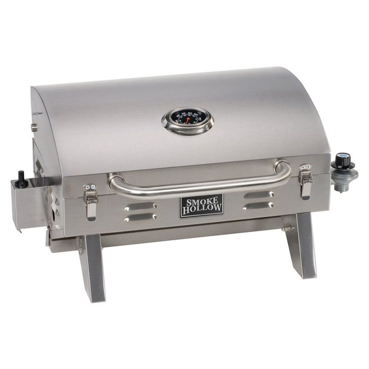 Stainless Steel Kitchen Table Top Part - 41: Smoke Hollow Stainless Steel Table Top Grill | From Hayneedle.com