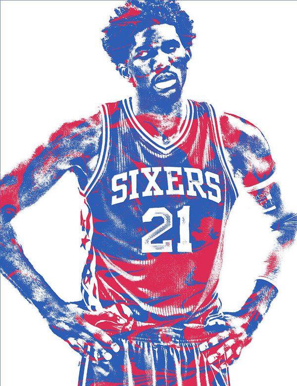 Joel Embiid Philadelphia Sixers Pixel Art 10 Art Print By Joe Hamilton In 2021 Nba Basketball Art Pixel Art Nba Art