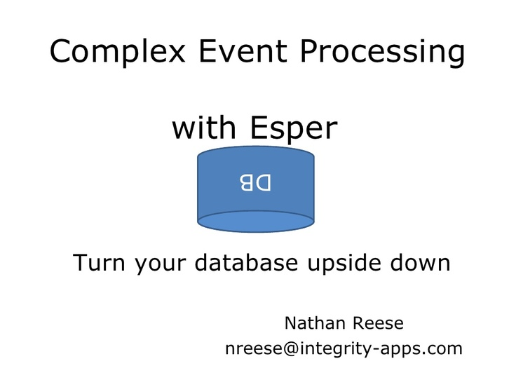 complex-event-processing-with-esper by Matthew McCullough via Slideshare