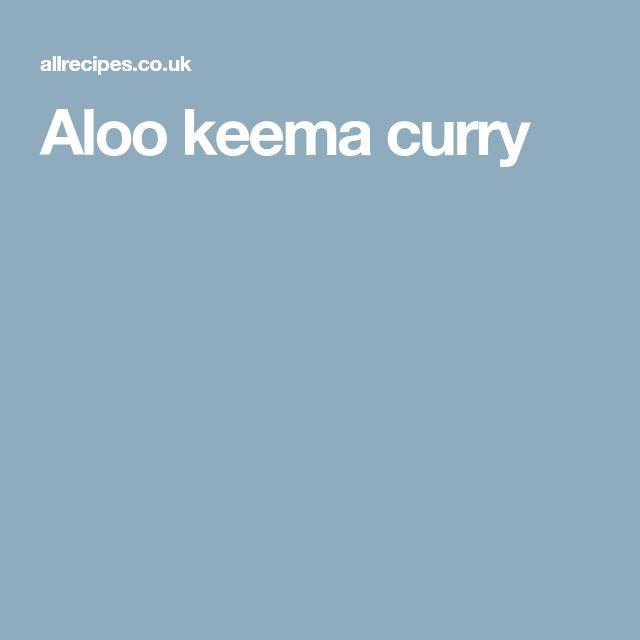 Aloo keema curry