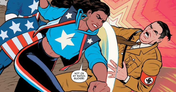 America Chavez, Marvel's first queer Latina superhero, is definitely pro-punching Nazis