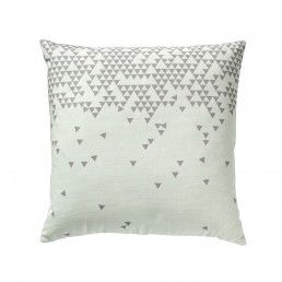 BLOOMINGVILLE Cushion Confetti Mint --- Small triangles cushions are designed in Denmark by Bloomingville for modern homes.   Colour: MintSize: 45 x 45 cm