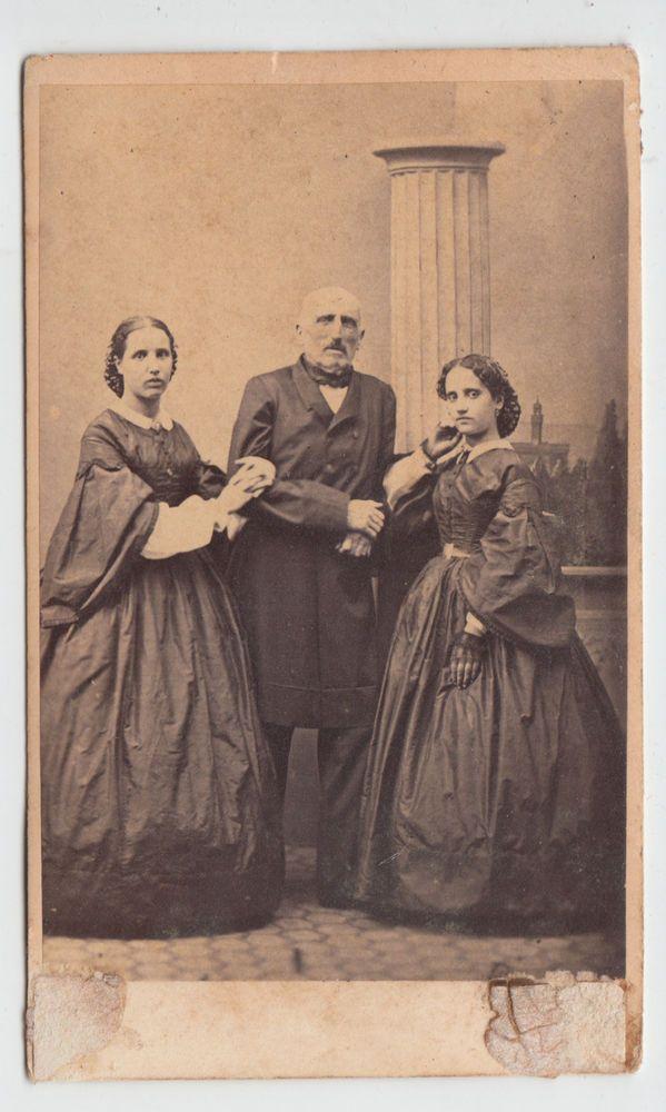 1860 C.A. CDV  RITRATTO DI FAMIGLIA BY A. HAUTMANN FIRENZE -2601