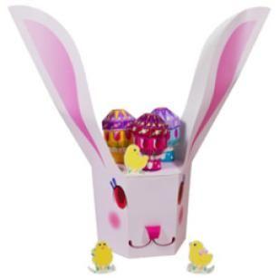 Пасха: держатель для яиц в форме кролика,Дом и предметы интерьера,Поделки из бумаги,вечеринка,розовый