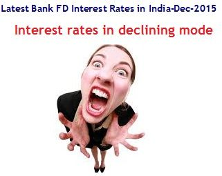 This article provides Latest Bank FD Interest Rates in India in December, 2015. These current Bank Fixed Deposit interest rates would help investors to invest in highest interest rates FD's