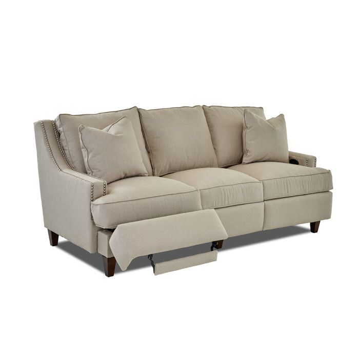 Wayfair Custom Upholstery Tricia Power Hybrid Reclining Sofa | Wayfair