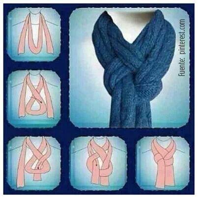 Una forma diferente de usar la bufanda