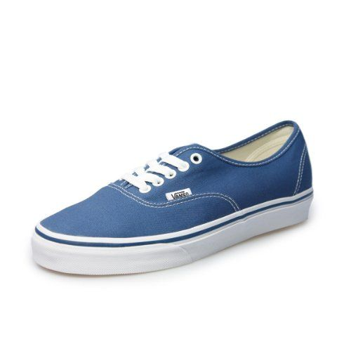 Vans Authentic Unisex Navy White Canvas Vulcanised Skate Trainers Shoes VEE3NVYUK 35 -- Read more reviews of the product by visiting the link on the image.