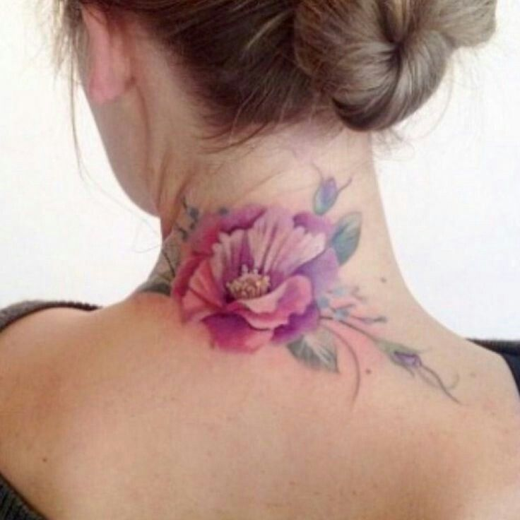 Best 25+ Neck Tattoos Women Ideas On Pinterest