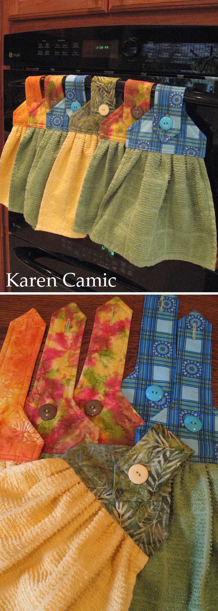 Kitchen towel hanging ideas - Oven Hand Towels Instructions From Kleiosbelly Wordpress Com
