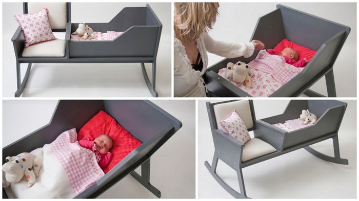 Diply.com - 2-in-1 Rocking Chair Cradle - this may be the most ingenious invention I've ever stumbled upon.