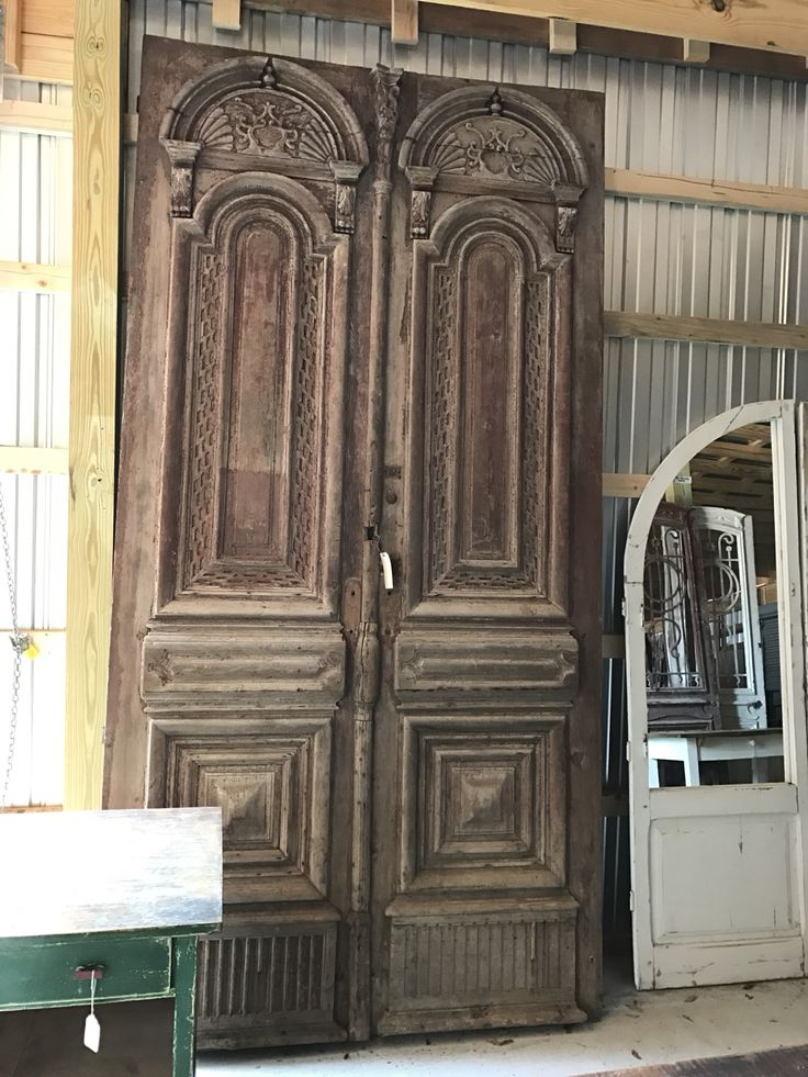 Gorgeous massive carved French antique door! - 401 Best One Of A Kind... Images On Pinterest Irons, Headboards