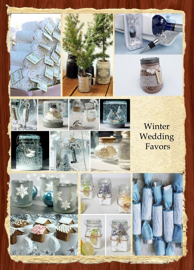 Winter Wedding Favor ideas