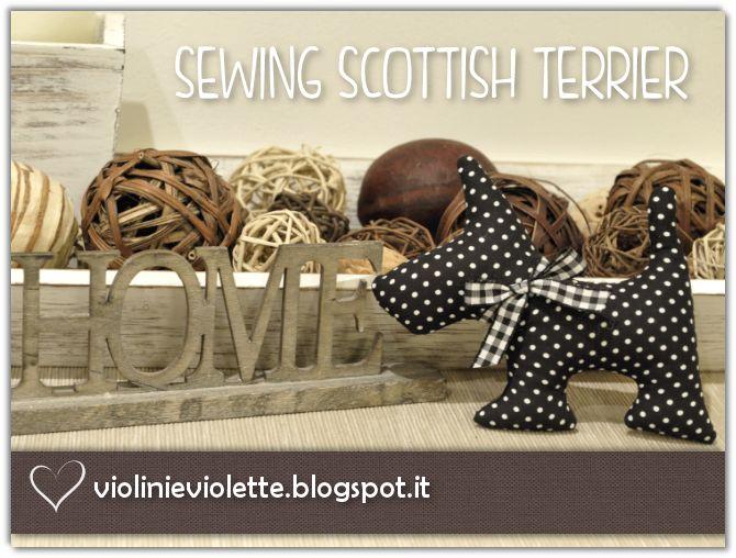 VIOLINI E VIOLETTE: sewing dog