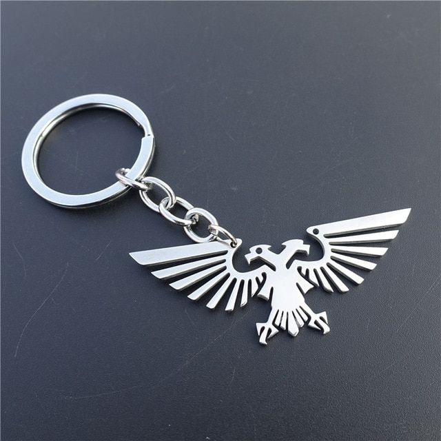 Stainless Steel Keyrings Warhammer 40k Imperial Aquila Bird Keychains Men Boys Jewelry Review Jewelry Review Boys Jewelry Keychain