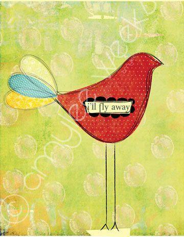 Scripture art i'll FLY away Christian art print by amyleeweeks, $20.00Sweet Mornings Birds, Scripture Art, Birds Fly Art, Illness Fly, Art Prints, Scriptures Art, Amyleeweek, Amylee Weeks, Christian Art Journals