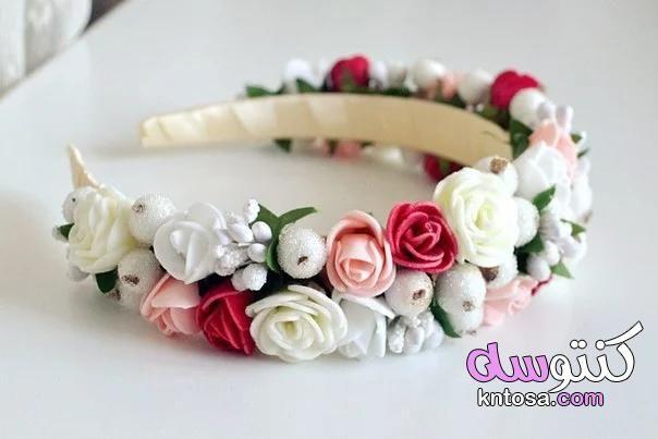 اكسسوارات شعر جديدة أطـواق ورد لكـل البنـات اطواق ورد طوق ورد للشعر انستقرام Kntosa Com 16 19 156 Floral Rings Floral Jewelry