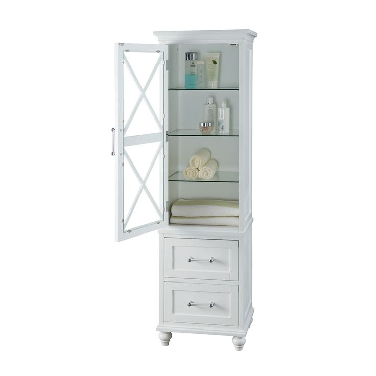 Shop Elegant Home Fashions  A9G-69349 Owen 2-Drawer Linen Tower at The Mine. Browse our bathroom linen cabinets, all with free shipping and best price guaranteed.